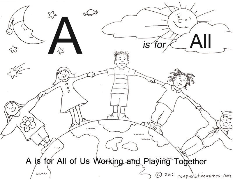 free cooperation coloring pages - photo#5