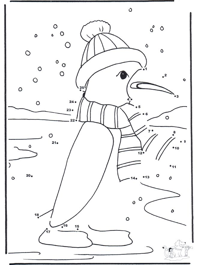 Winter Dot To Dot Worksheets : Connect the dots coloring home