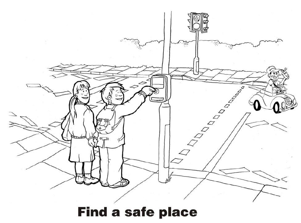 traffic safety coloring pages