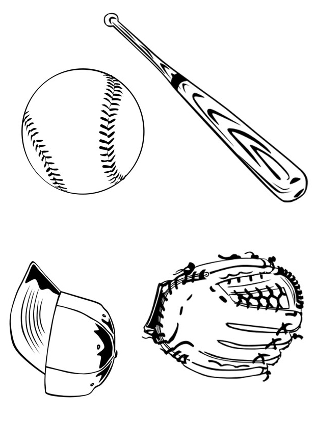 baseball glove coloring pages - photo#23