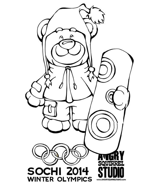 coloring pages winter olympics - photo#10
