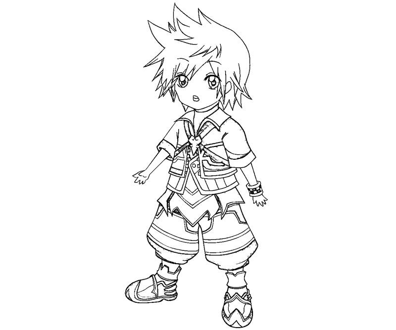 Kingdom Hearts 2 Coloring Pages Coloring Home