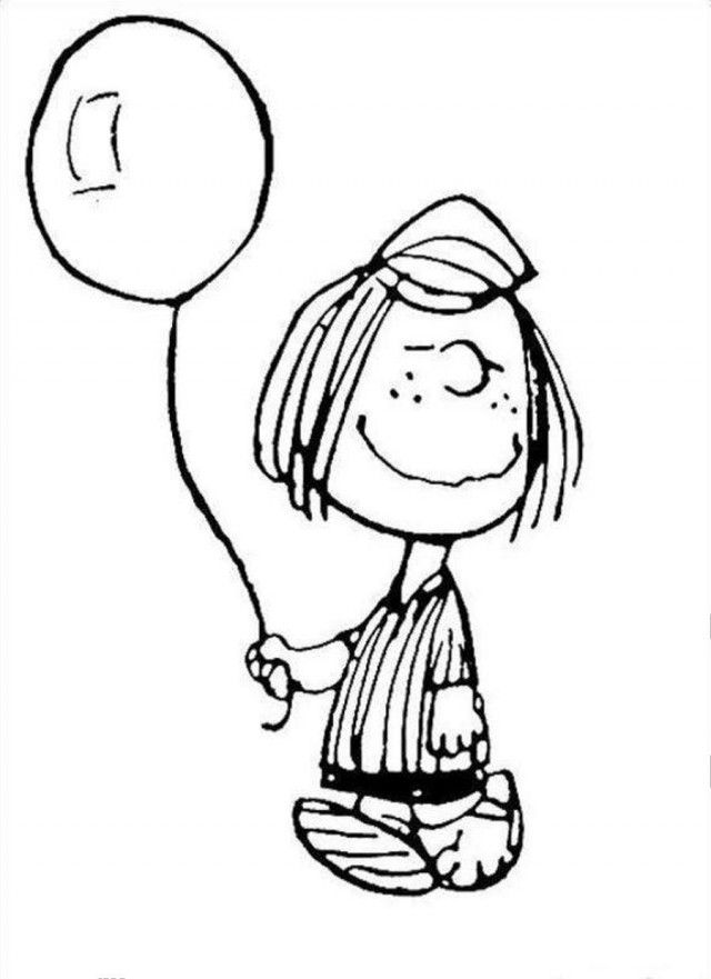 Snoopy Holds Balloon Coloring Page Coloringplus 152737 Snoopy