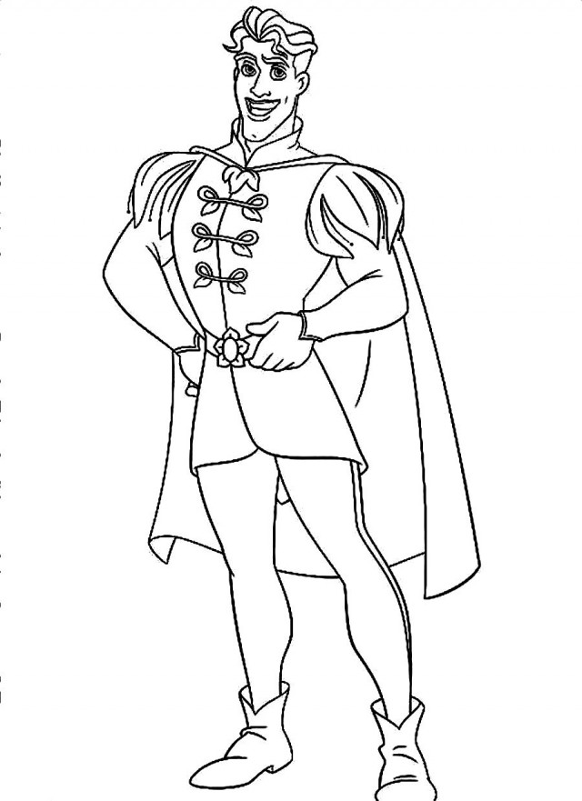 prince and princess coloring pages - photo#23