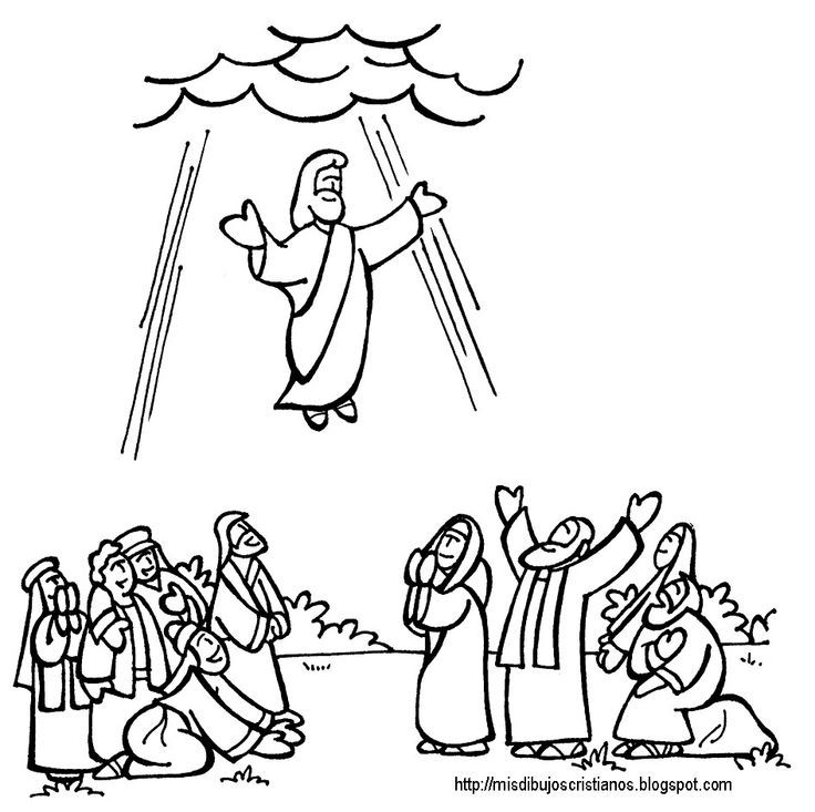 ascension of mary coloring pages - photo#1