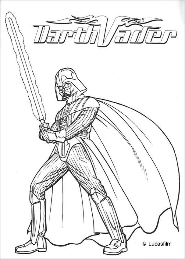 Darth Vader Coloring Page Coloring Home