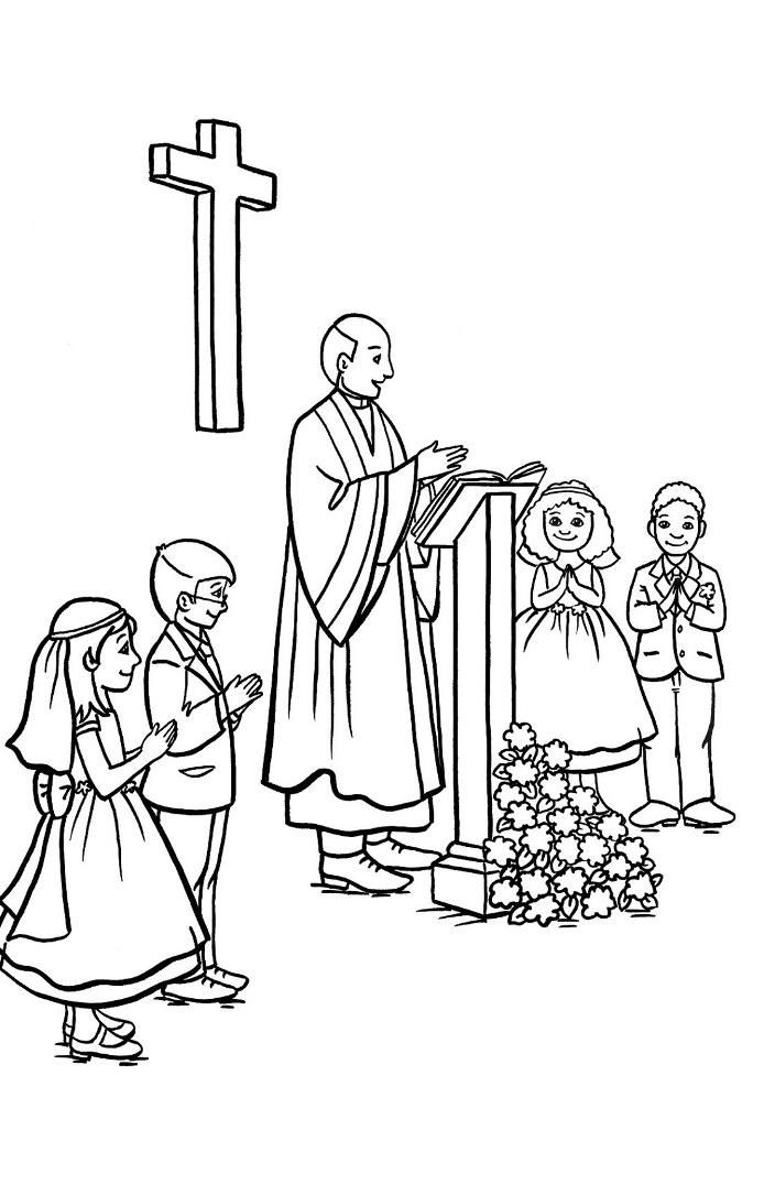First Holy Communion Coloring Pages