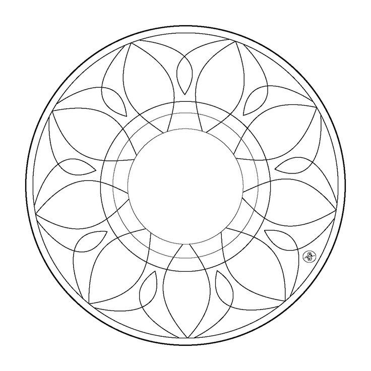 simple mandala coloring pages coloring home. Black Bedroom Furniture Sets. Home Design Ideas