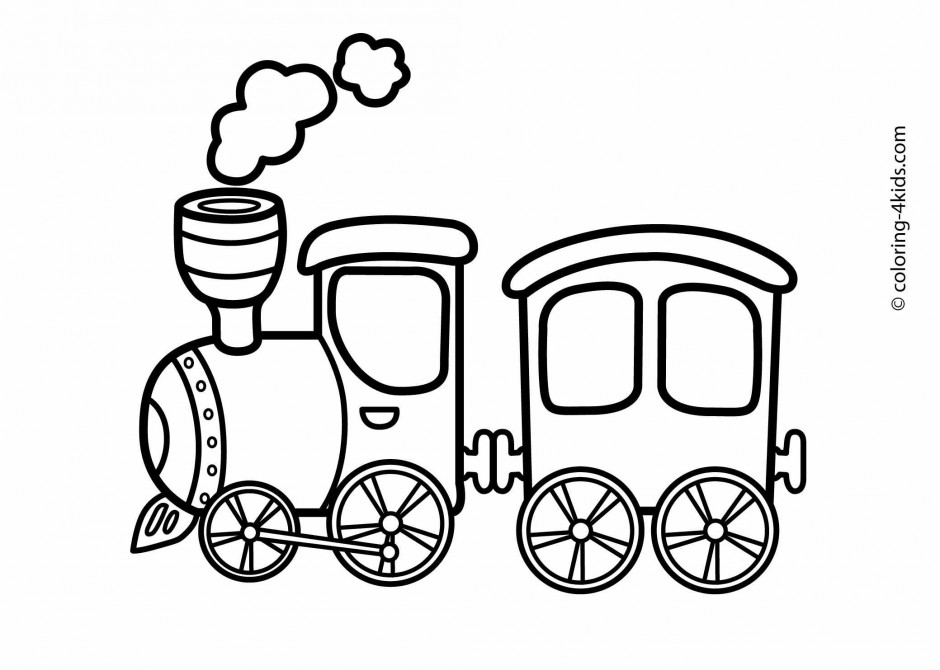 coloring pages trains preschoolers development - photo#10