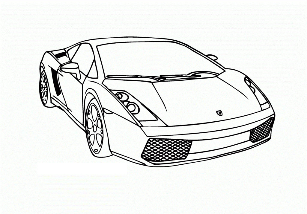 Race Car Coloring Page...