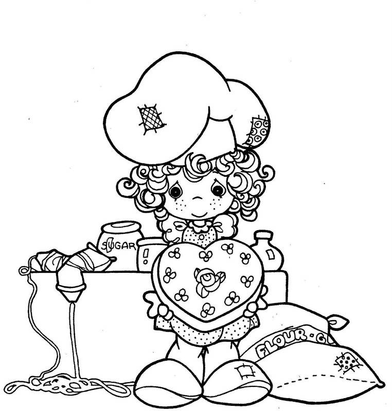 precious moments coloring pages autumn - photo#17
