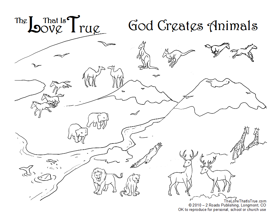 god made coloring pages - photo#29