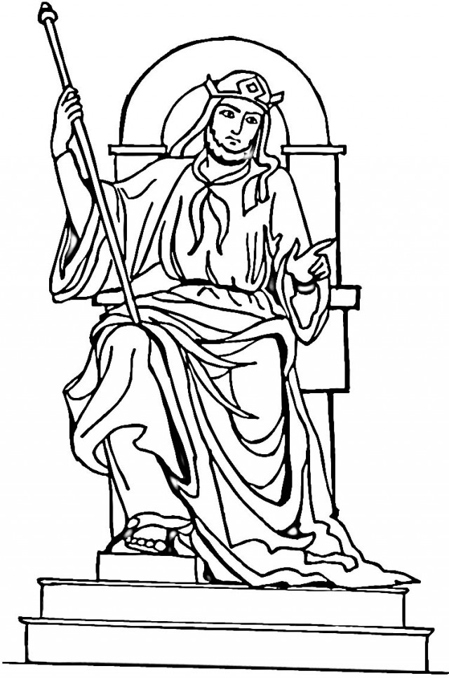 King saul coloring pages az coloring pages for King david coloring pages free