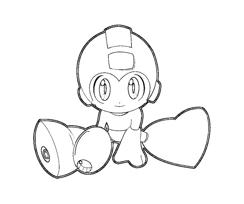 20 Mega Man Coloring Page