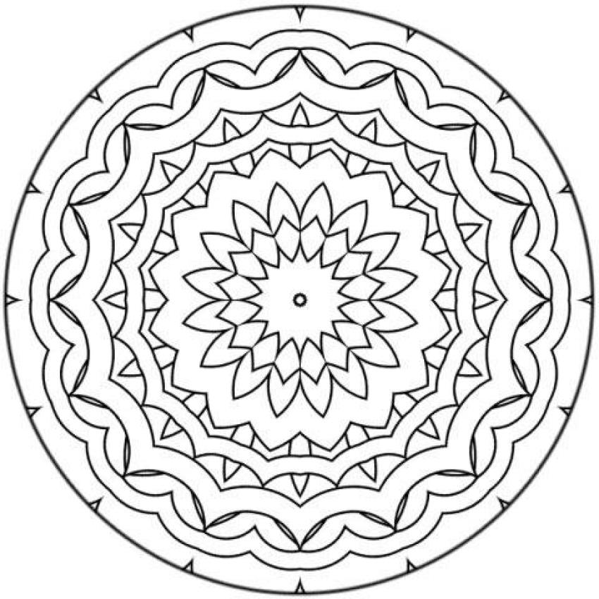 Mandalas For BEGINNERS Mandala 17 Coloring Home