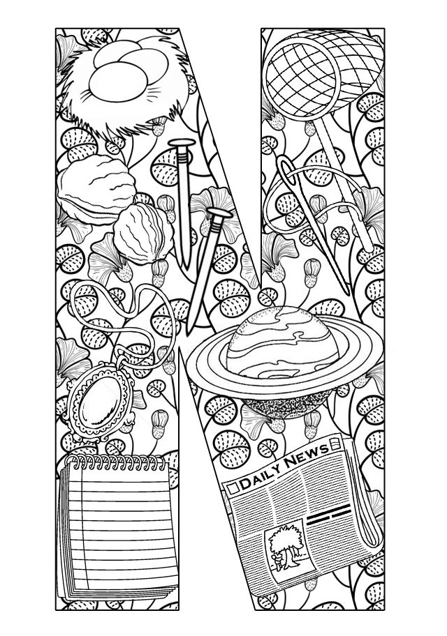 Things that start with N - Free Printable Coloring Pages