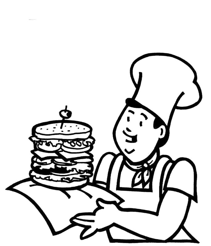 taco coloring pages for kids - photo #19