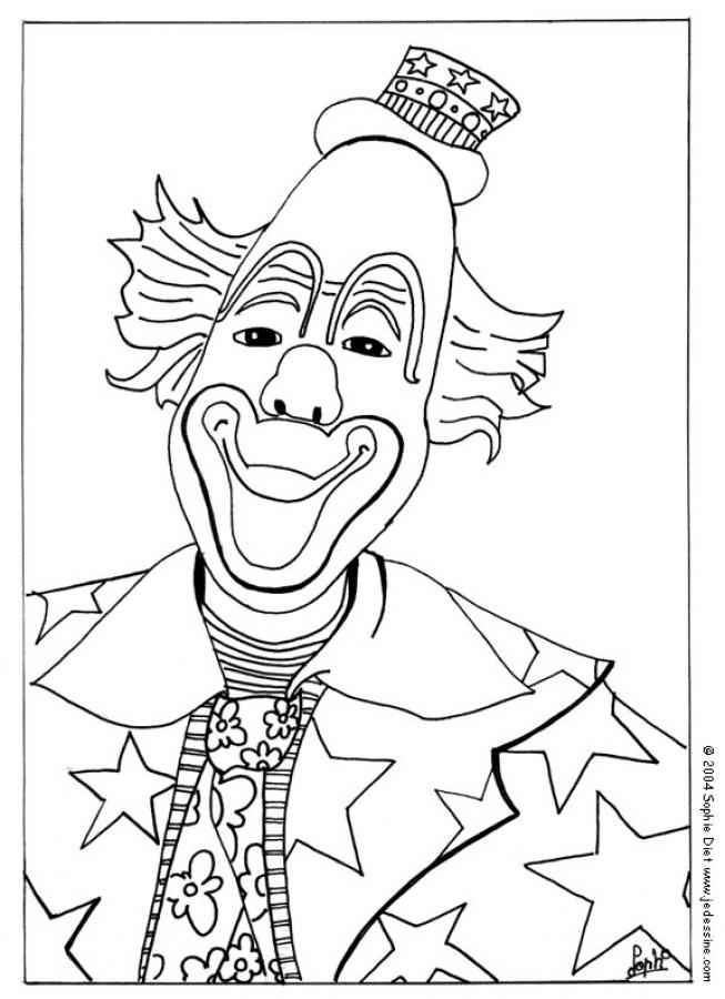 Clown face coloring page coloring home for Clown coloring pages for adults