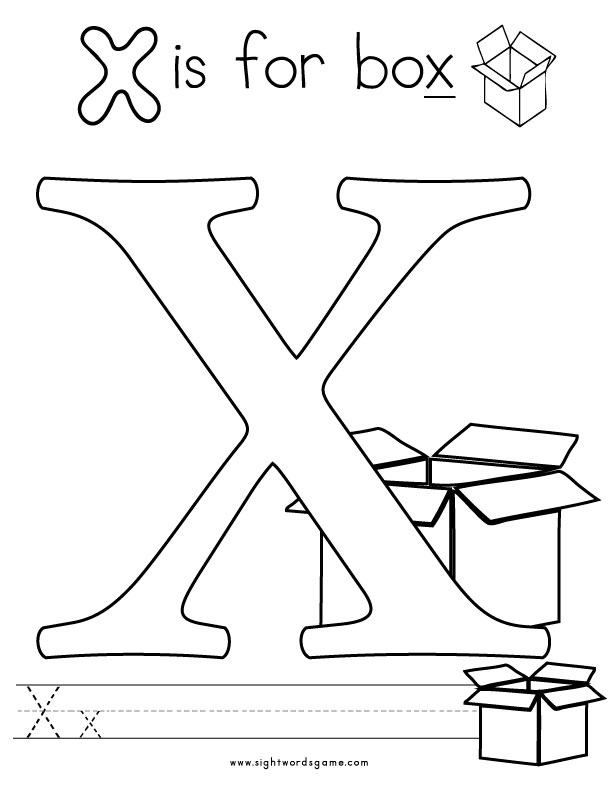 x coloring pages - photo #12
