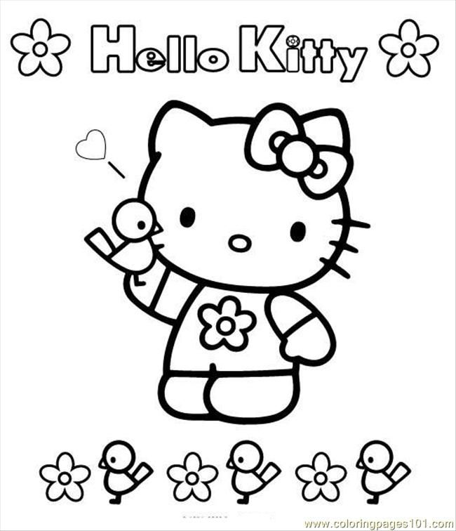 Coloring Pages Kitty7 (Cartoons > Hello Kitty) - free printable