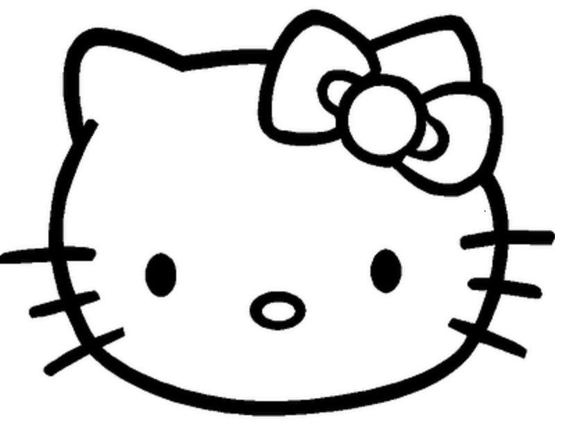 Anime Kitty Face Kitty Face Coloring Pages