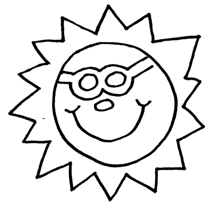 Sun Template Kids Coloring Pages