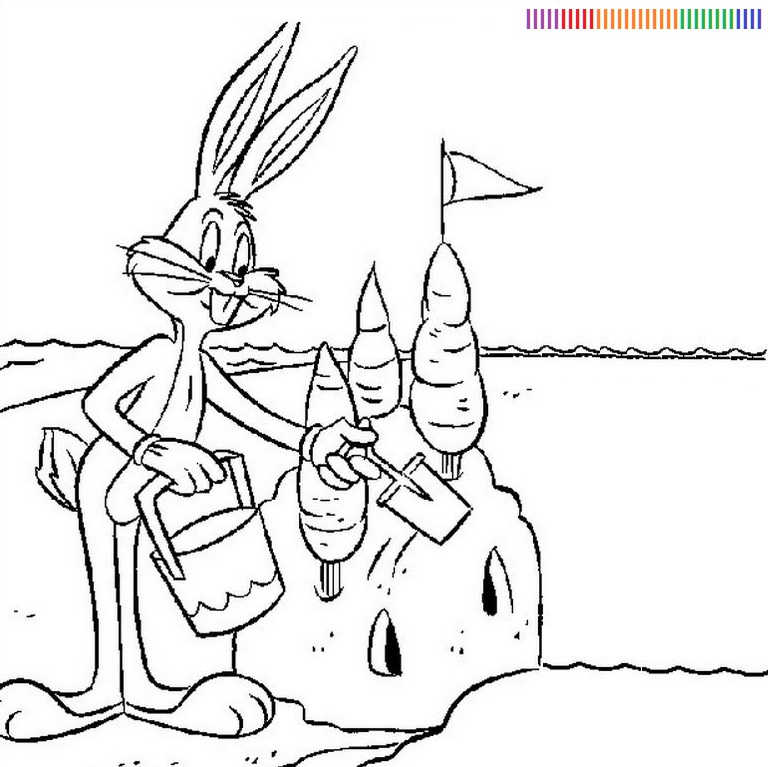 Baby Bugs Bunny Coloring Pages Coloring Home Baby Bugs Bunny Coloring Pages