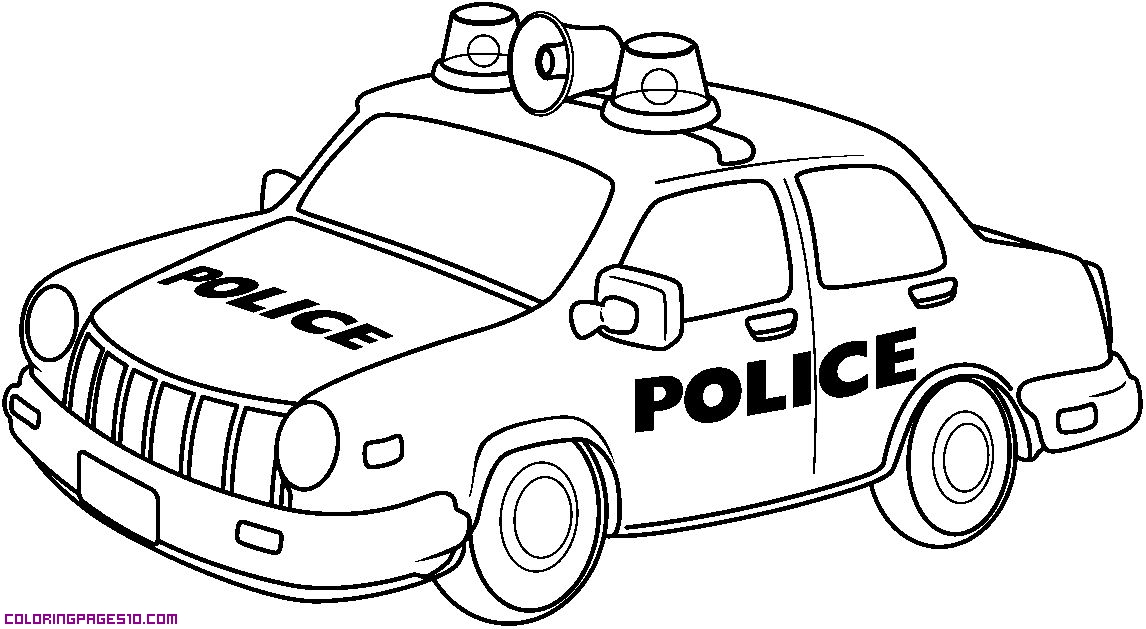 Police car coloring pages az coloring pages