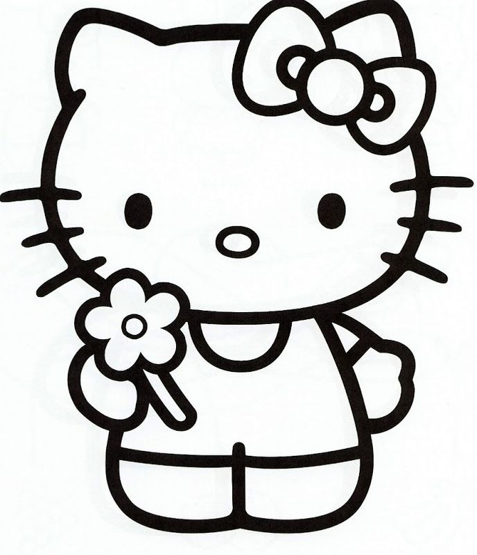 hello kitty coloring pages free the coloring pages