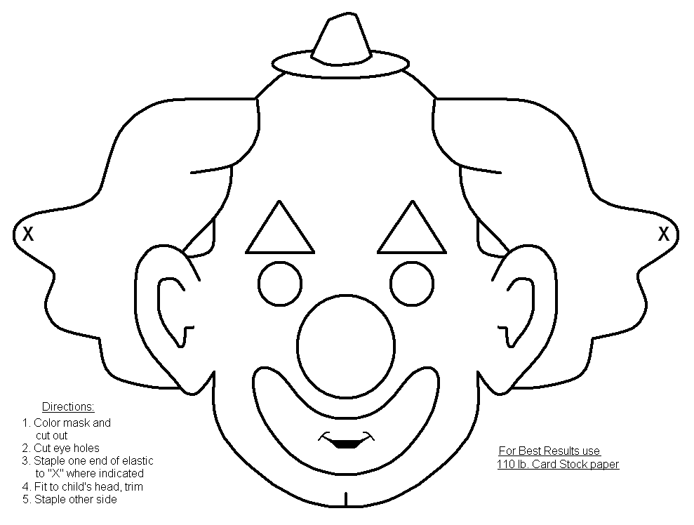 mask halloween coloring pages - photo#17