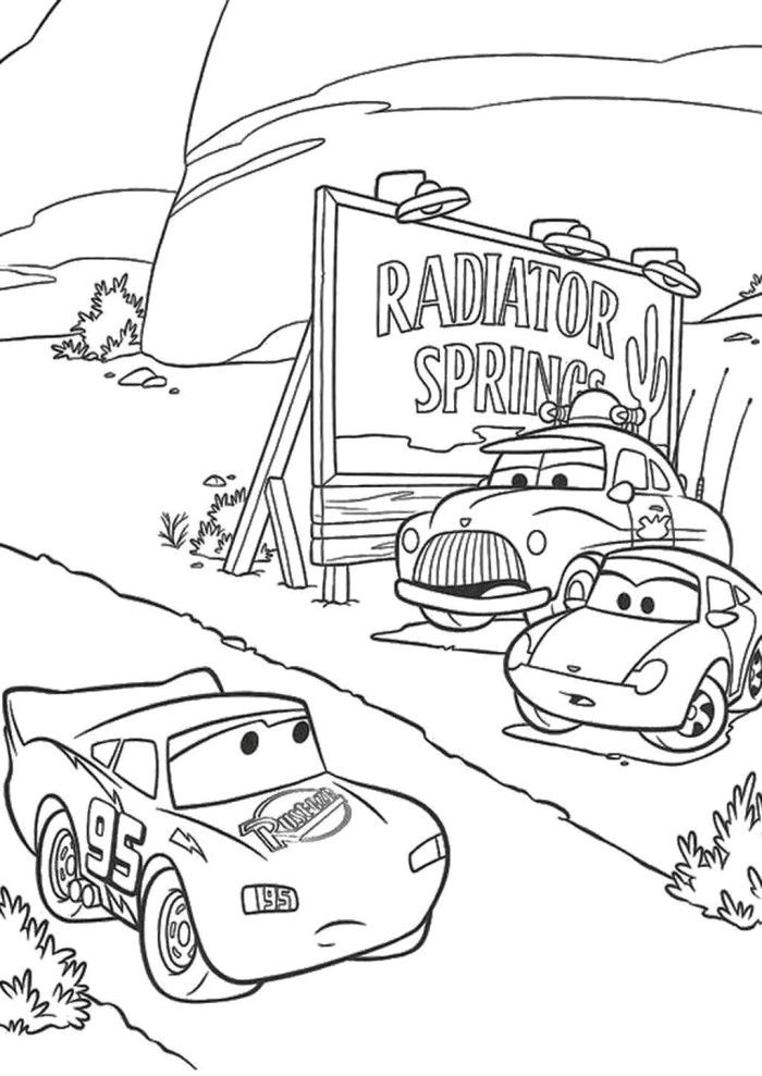 Cars Coloring Pages Pixar - Coloring Home