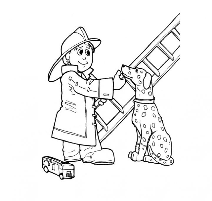 Free coloring pages of fireman sam fire engine for Firefighter coloring pages printable
