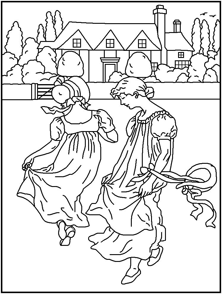 mothergoose coloring pages - photo#20