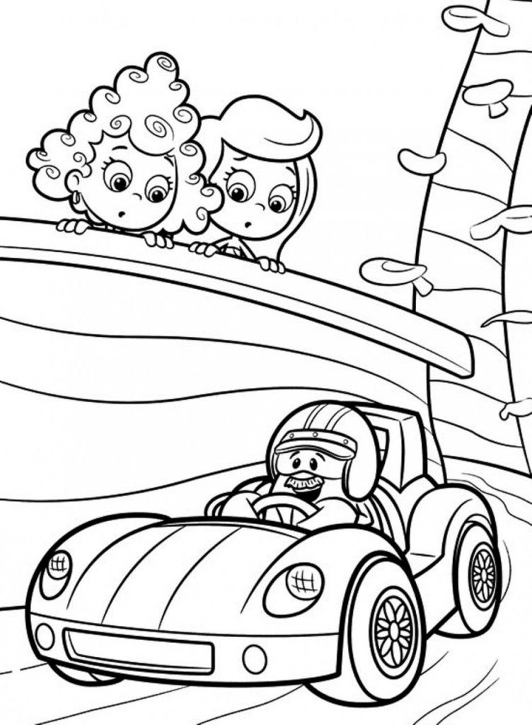 Cartoon: Download Bubble Guppies Coloring Pages Cartoon Or Print