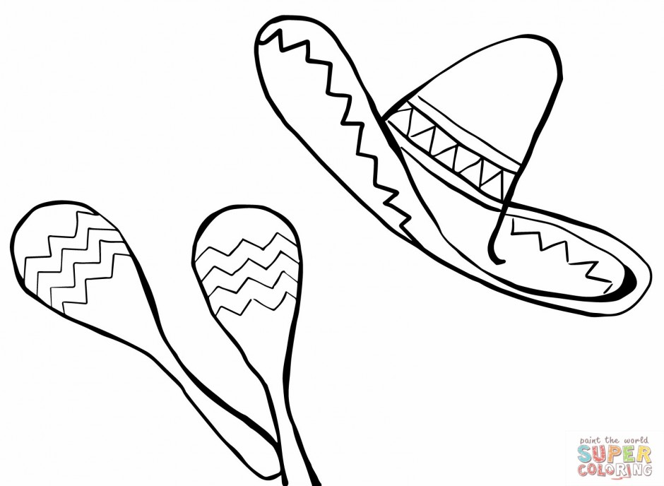 free sombrero coloring pages - photo#26