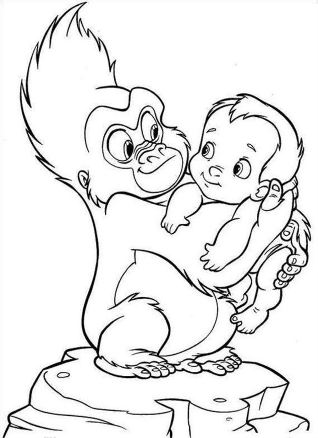 tarzan and jane coloring page coloring home