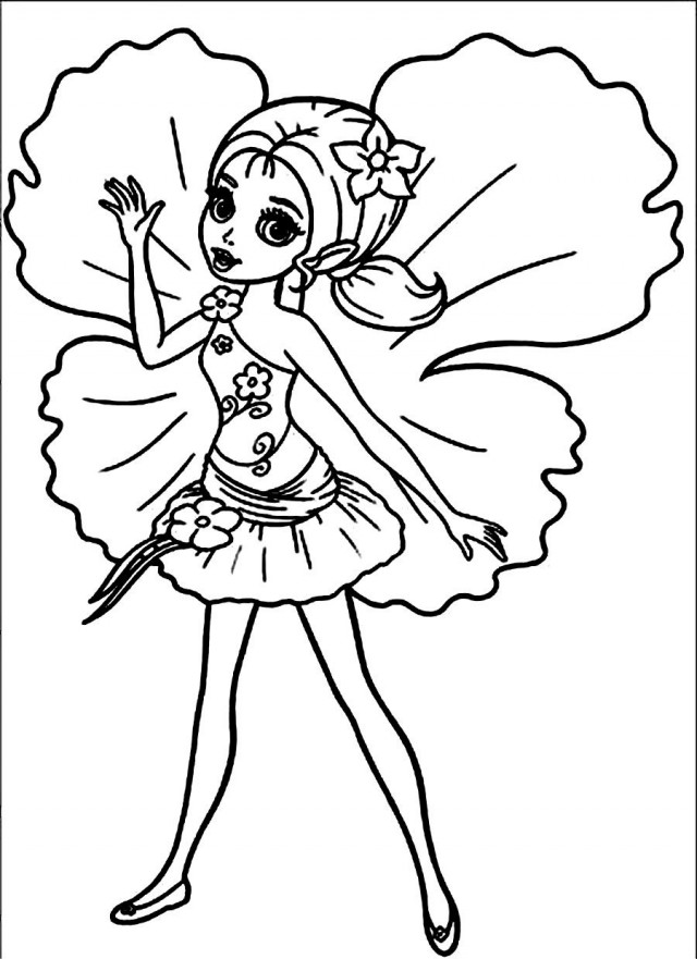 thumberlina coloring pages - photo#11