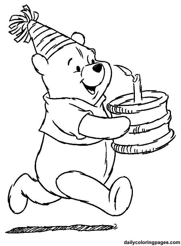 free 1st birthday coloring pages - photo#18
