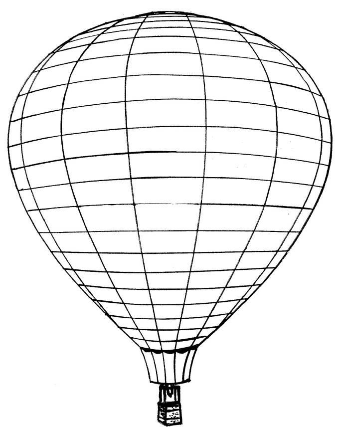 Hot Air Balloon Coloring Pages Images & Pictures - Becuo
