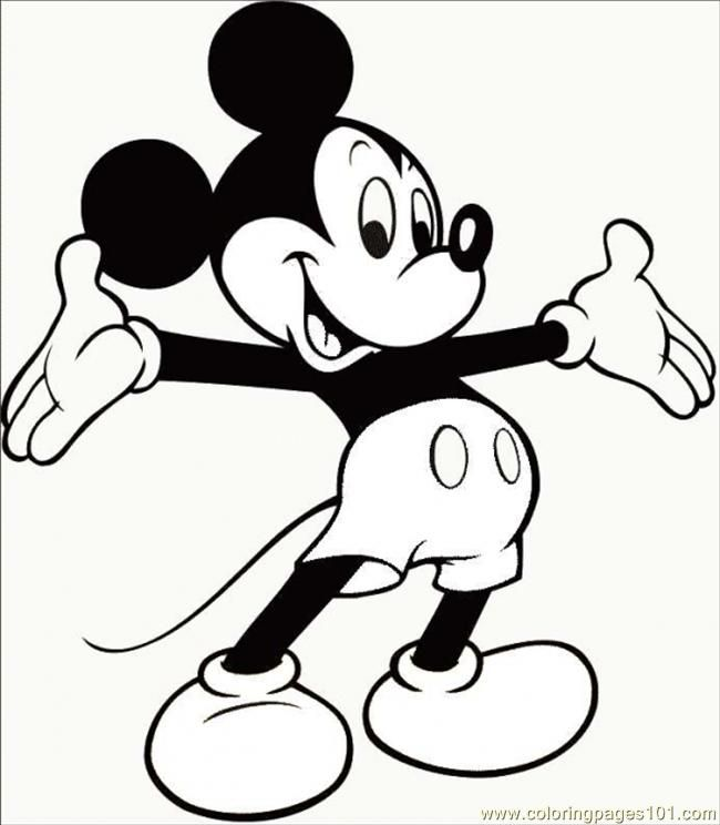 Mickey Mouse Printable Coloring Pages - Coloring Home