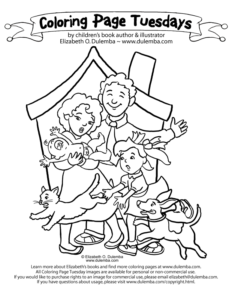 family coloring pages children - photo#28
