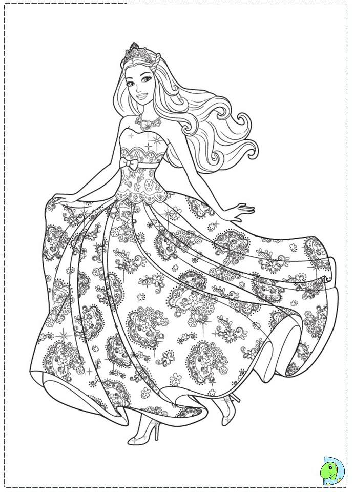 coloring pages princess barbie - photo#1