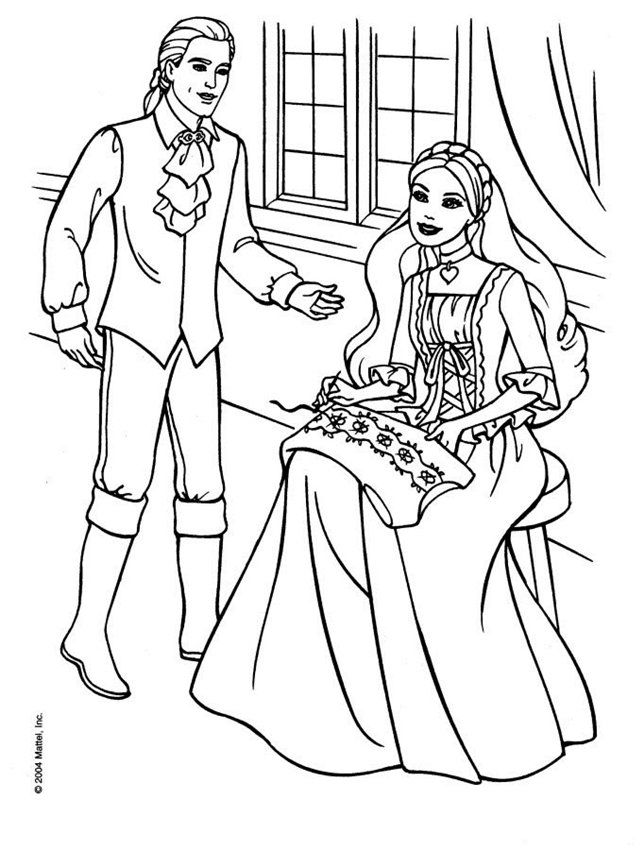 barbie coloring pages full size - photo#12