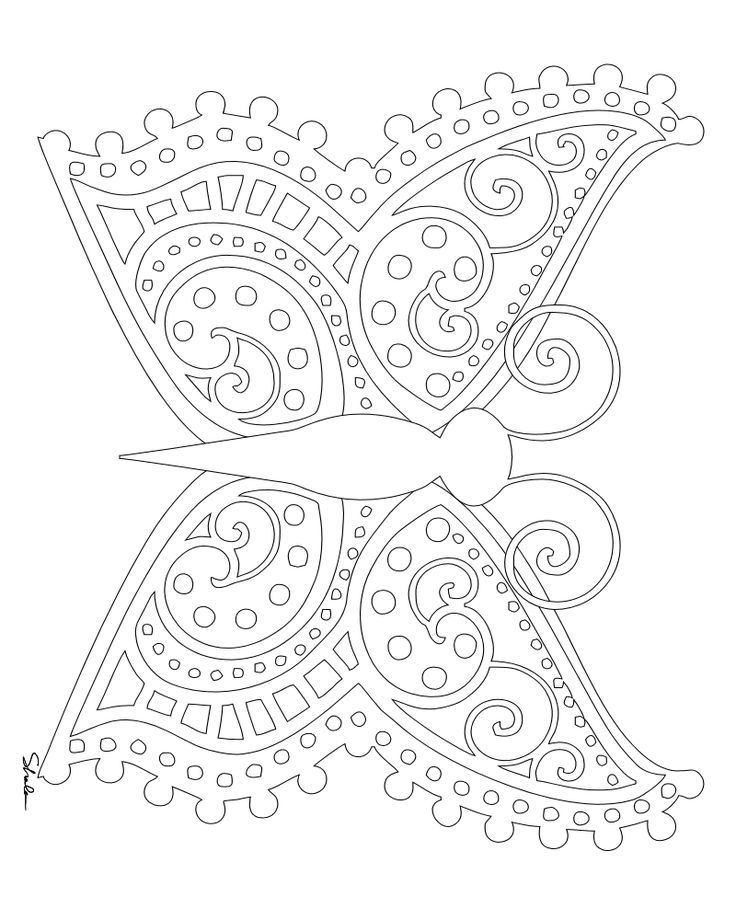 Symmetrical Coloring Pages Home