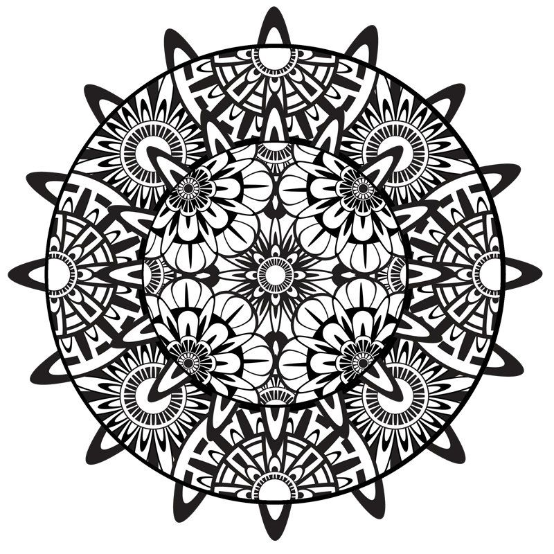 psychedelic coloring pages - photo#27
