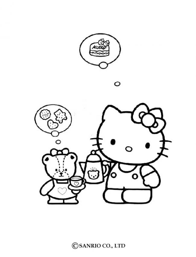 HELLO KITTY coloring pages : 36 online toy dolls printables for girls