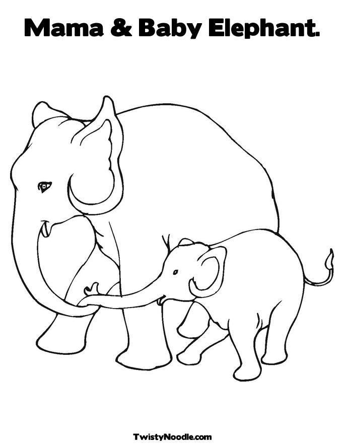 Outline Of Elephant
