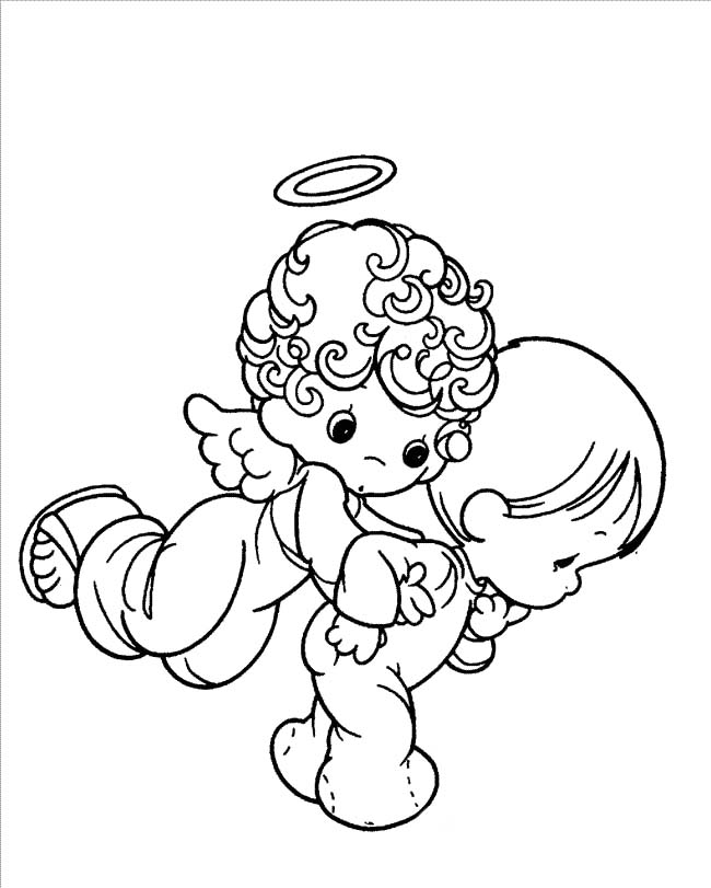 baby boy angel coloring pages - photo #1