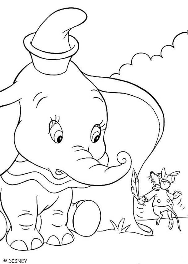 Picture Of Dumbo - Coloring Home