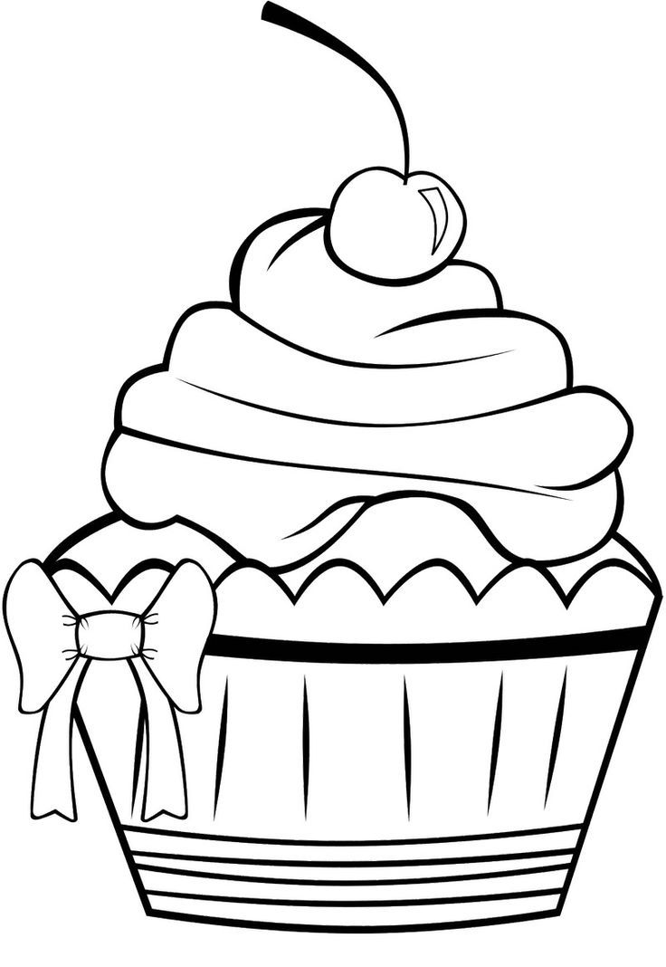 Cute Cupcake Coloring Pages - Coloring Home